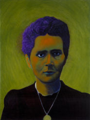 Jennifer Monfrans, Marie Curie, 2014, acrylic on canvas, 18 x 24 in.