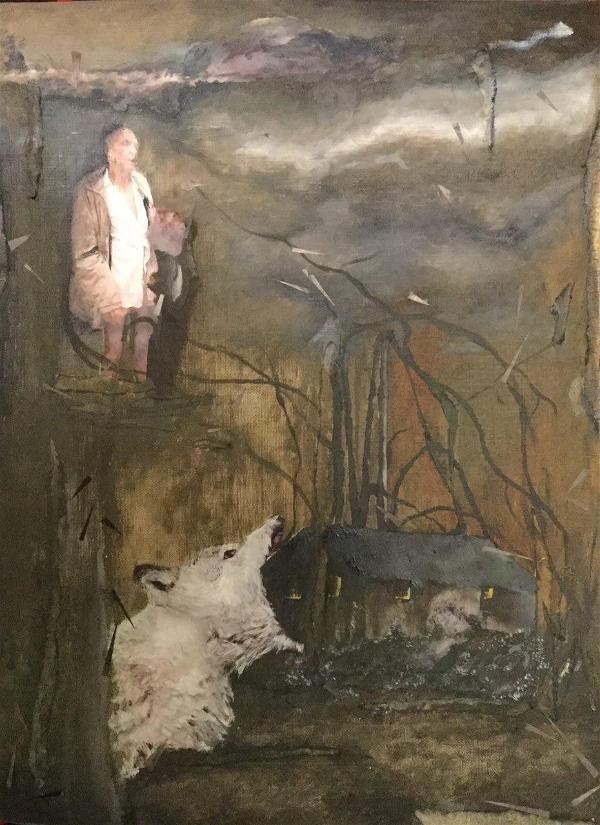 Fariba Rahnavard, Anti Gravity, 2017, collage, 25x35cm