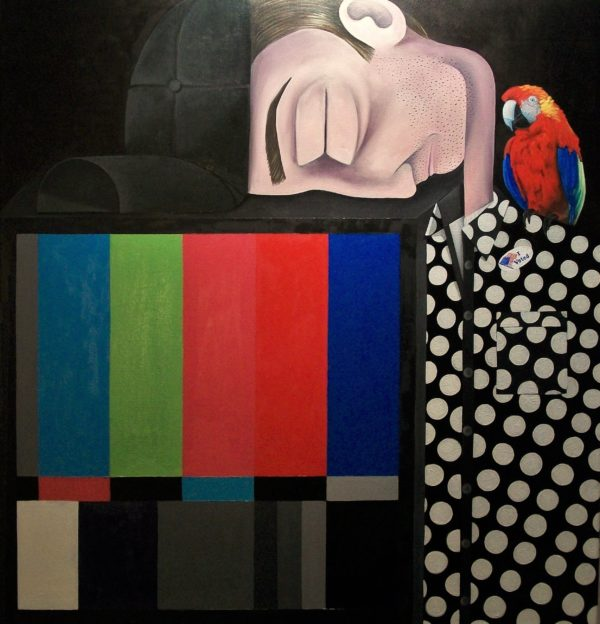 Brian Cirmo, Nimrod (I voted), 2016-17, Oil on Canvas, 40''x38''
