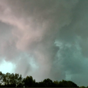 Skies turning green as a tornado approaches- Photo by C. Read